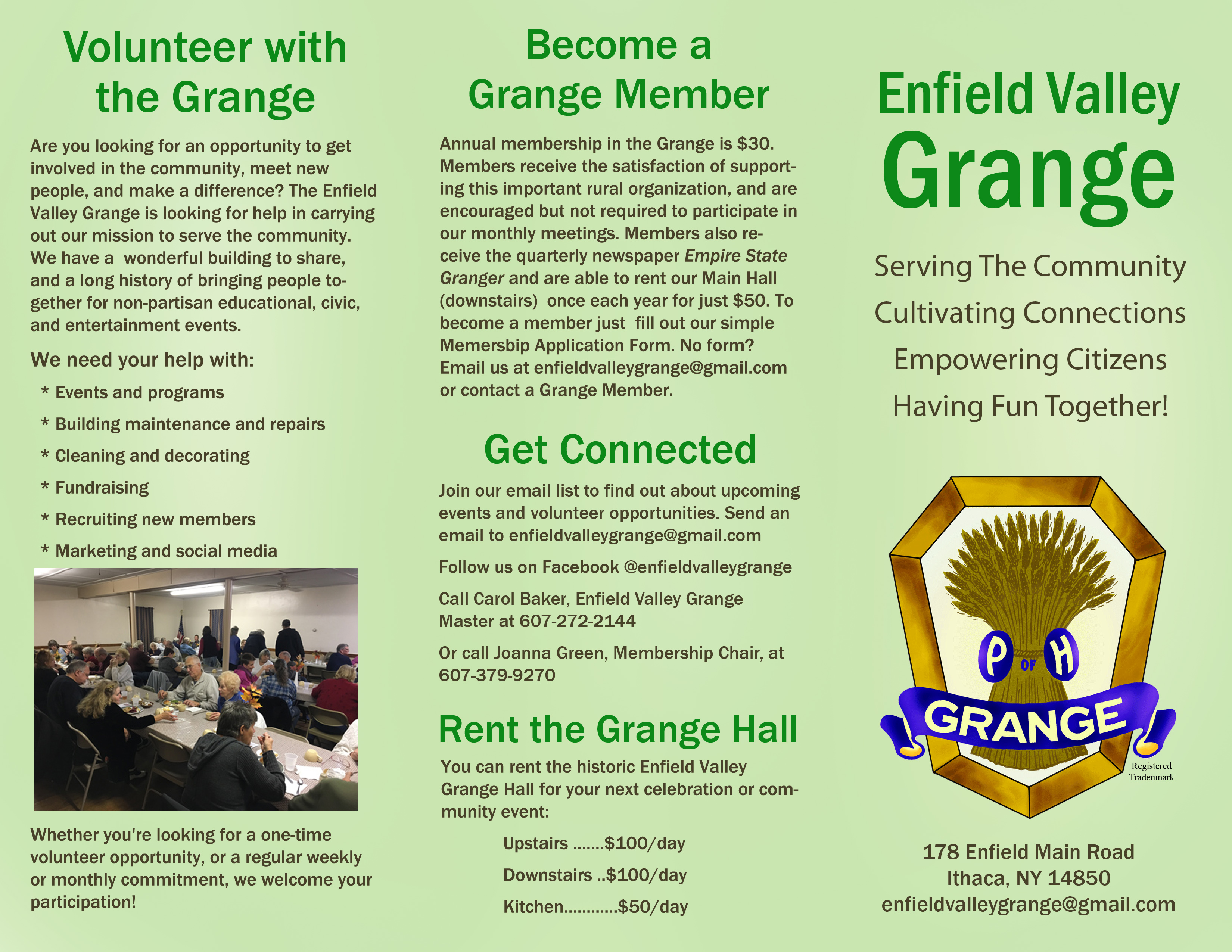 Enfield Valley Grange Events – Town of Enfield, NY